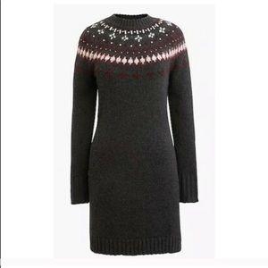 💥NWT J Crew Fair Isle Embellished Sweater Dress💥